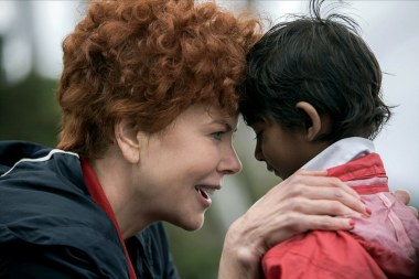 Nicole Kidman & Sunny Pawar Film: Lion (AUS 2016) Director: Garth Davis 10 September 2016 SAR71256 Allstar Picture Library/SCREEN AUSTRALIA **Warning** This Photograph is for editorial use only and is the copyright of SCREEN AUSTRALIA and/or the Photographer assigned by the Film or Production Company & can only be reproduced by publications in conjunction with the promotion of the above Film. A Mandatory Credit To SCREEN AUSTRALIA is required. The Photographer should also be credited when known. No commercial use can be granted without written authority from the Film Company. Character(s): Sue Brierley, Young Saroo