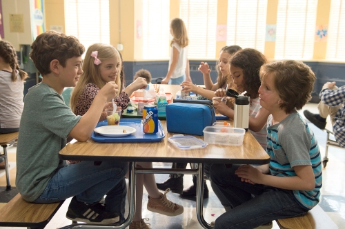 """Auggie, right, makes meaningful connections, eventually. """"Wonder"""" does occasionally suffer from kid-movie pitfalls. MUST CREDIT: Dale Robinette, Lionsgate"""