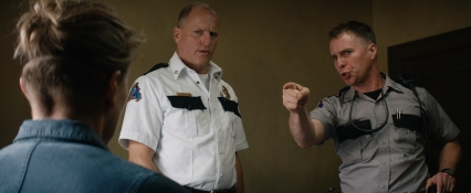 Woody Harrelson and Sam Rockwell in the film THREE BILLBOARDS OUTSIDE EBBING, MISSOURI. Photo courtesy of Fox Searchlight Pictures. © 2017 Twentieth Century Fox Film Corporation All Rights Reserved